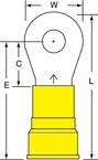 3M™ Scotchlok™ Ring Tongue Nylon Insulated Brazed Seam MN4-14RK, Stud Size 1/4