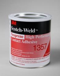 3M™ Scotch-Weld™ Neoprene High Performance Contact Adhesive 1357 Gray-Green, 1 Quart