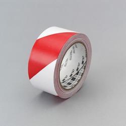 3M™ Hazard Warning Tape 767 Red/White, 2 in x 36 yd 5.0 mil
